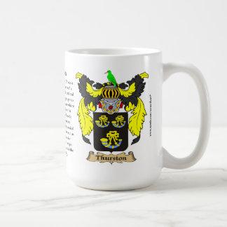 Thurston nombra, el origen, el significado y el Cr Taza De Café