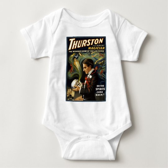 Thurston the great magician 2 baby bodysuit