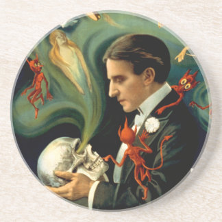 Thurston the Great Magician c. 1915 Drink Coaster