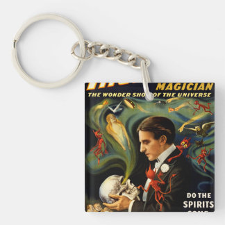 Thurston the Great Magician Double-Sided Square Acrylic Keychain
