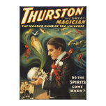 Thurston the Great Magician Holding Skull Magic Canvas Print