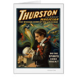 Thurston the Great Magician Holding Skull Magic Greeting Card