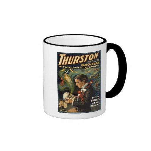Thurston the Great Magician Holding Skull Magic Ringer Coffee Mug
