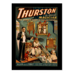 Thurston the great magician post card
