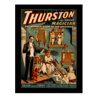 Thurston the great magician postcard