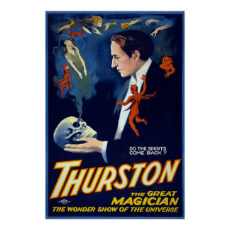 Thurston the Great Magician. Poster