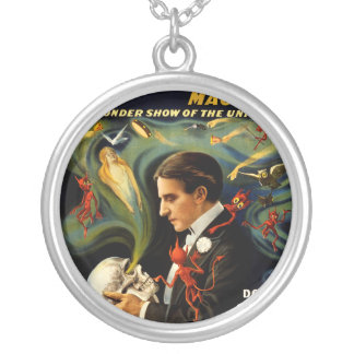 Thurston the Great Magician Round Pendant Necklace