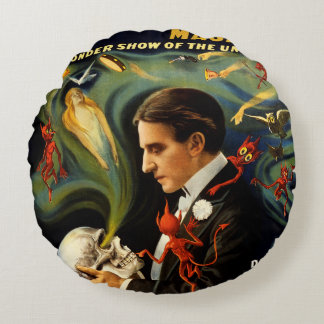 Thurston the Great Magician Round Pillow
