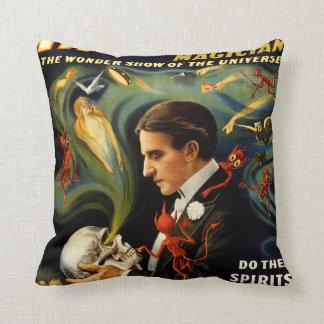 Thurston the Great Magician Throw Pillow