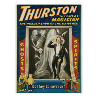 Thurston The Great Magician Vintage Advertisement Postcard