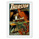 Thurston The Great Magician - Vintage Greeting Card