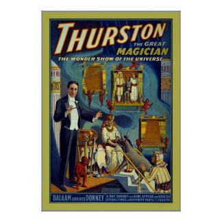 Thurston the Great Magician~Vintage Magician Poster