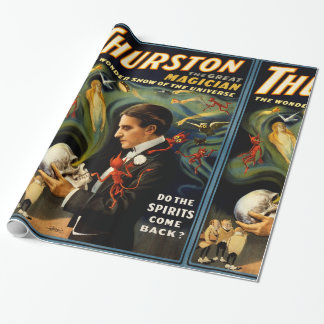 Thurston the Great Magician Wrapping Paper