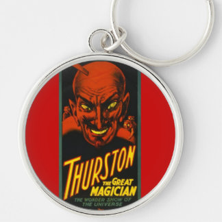 Thurston The Great! Silver-Colored Round Keychain