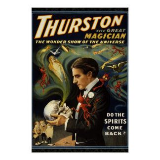 Thurston the Magician Reissue 36 x 24 Poster