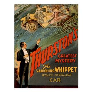 Thurston - The Vanishing Whippet Postcard