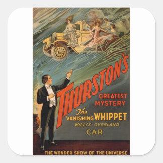 Thurston - The Vanishing Whippet Square Sticker