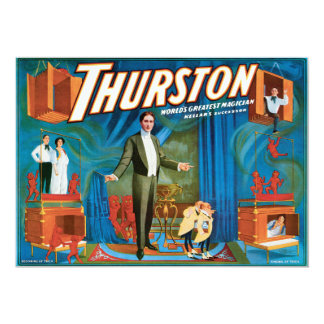 Thurston Vintage 1910 Magician Poster Card