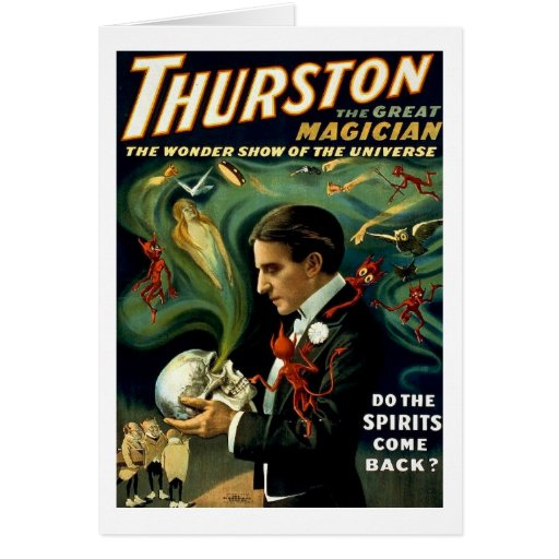 Thurston World's Famous Magician - Vintage Greeting Card