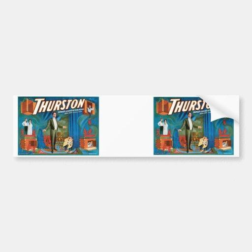 Thurston World's Greatest Magician ~ Vintage Act Car Bumper Sticker
