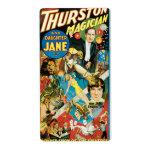 Thurston y publicidad del mago de Jane de la hija Etiqueta De Envío