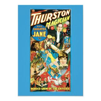 """Thurston y publicidad del mago de Jane de la hija Invitación 5"""" X 7"""""""