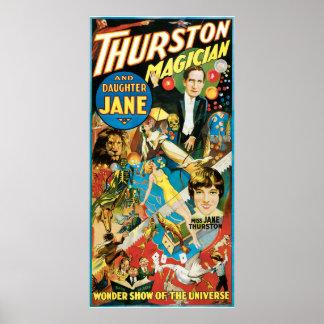 Thurston y publicidad del mago de Jane de la hija Impresiones