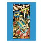 Thurston y publicidad del mago de Jane de la hija Postal