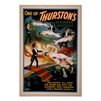 Thurston's Astounding Mysteries Magic Poster