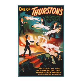 Thurston's Astounding Mysteries Magic Poster Canvas Print
