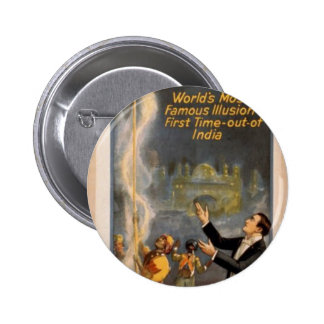 Thurston's, 'Eastern Indian Rope Trick' Retro Thea Pinback Buttons