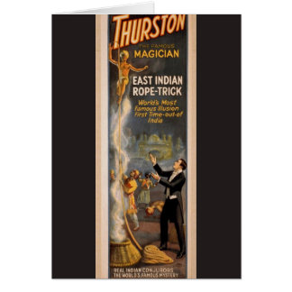 Thurston's, 'Eastern Indian Rope Trick' Retro Thea Card