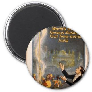 Thurston's, 'Eastern Indian Rope Trick' Retro Thea Fridge Magnets