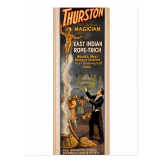 Thurston's, 'Eastern Indian Rope Trick' Retro Thea Postcards
