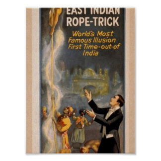 Thurston's, 'Eastern Indian Rope Trick' Retro Thea Poster