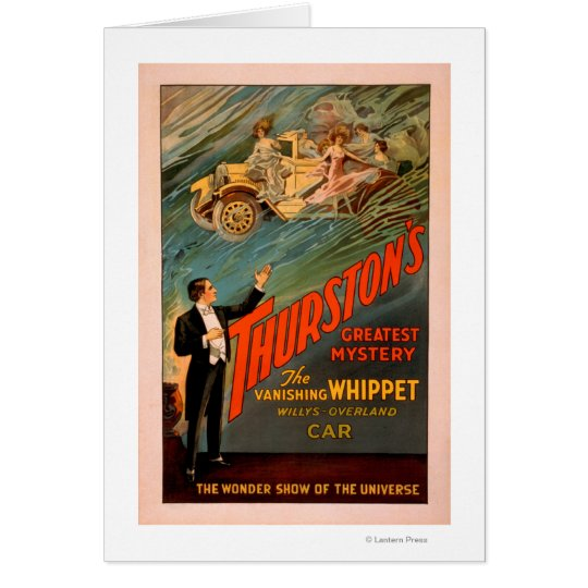 Thurston's Vanishing Whippet Willys-Overland Card