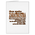 Thus Spake Zarathustra Greeting Cards