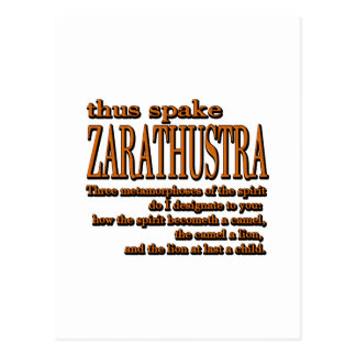 Thus Spake Zarathustra Postcard