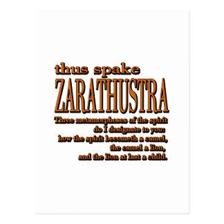 Thus Spake Zarathustra Postcard