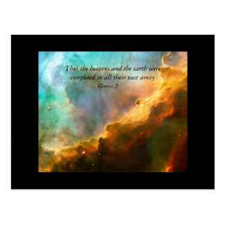Thus the heavens and the earth postcard