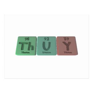 Thuy as Thorium Uranium Yttrium Postcard
