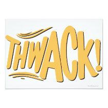 invitations, thwack, batman, bat man, 1966 batman, 60's batman, batman action callout, action words, fighting sound effect words, punching sounds, adam west, burt ward, batman tv show, batman cartoon graphics, super hero, classic tv show, Invitation with custom graphic design