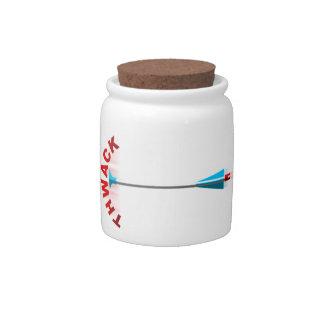 Thwack Plastic Arrow Candy Jar