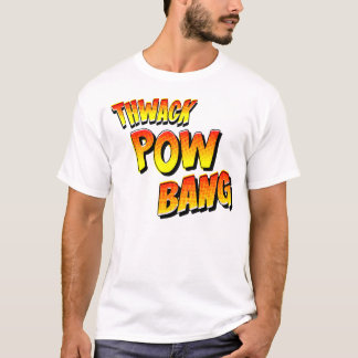 Thwack Pow Bang Vintage Comic Book Sound Effects T-Shirt