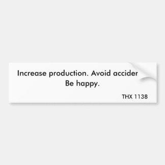 THX 1138 - Producción 2 Etiqueta De Parachoque