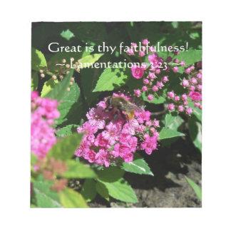 Thy Faithfulness Notepad
