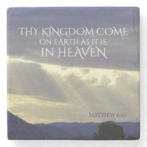 Thy Kingdom Come on Earth as in Heaven, Bible Stone Coaster