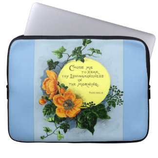 Thy Loving Kindness In The Morning Laptop Sleeves