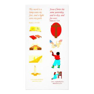 Thy palabra de KJV es una lámpara - tarjeta de la  Tarjetas Personales Con Fotos