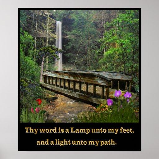Thy palabra es un salmo 119 de la lámpara poster
